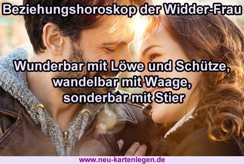 Beziehungshoroskop der Widder-Frau